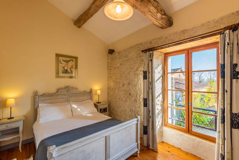 Bedroom of Gite in Charente, South west France