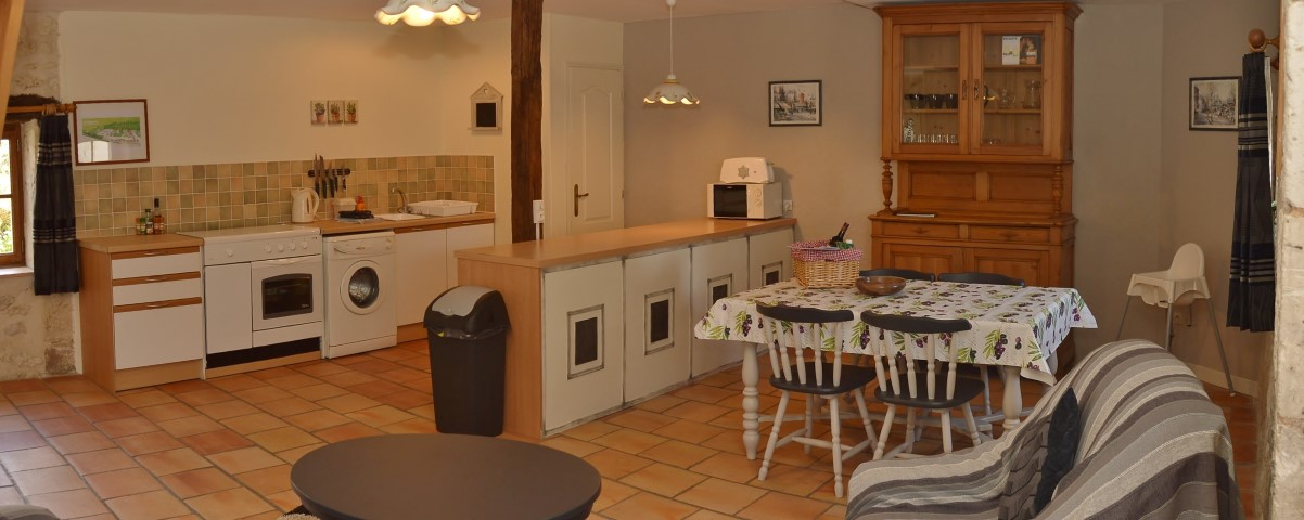 Lounge of toddler friendly cottage in Charente, South west France