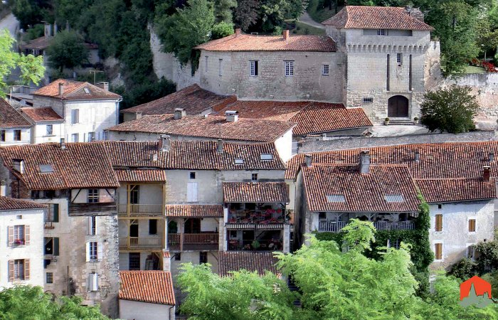 Aubeterre chateau, Holiday in Charente, South west France