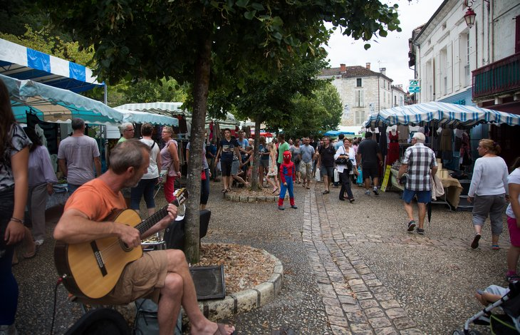 Brantome market Gite in Charente, South west France