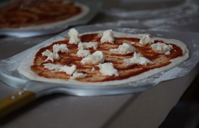 Family friendly holiday accommodation France - Delicious home made pizza