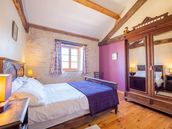 Upstairs master bedroom, family friendly cottage in Charente, South west France