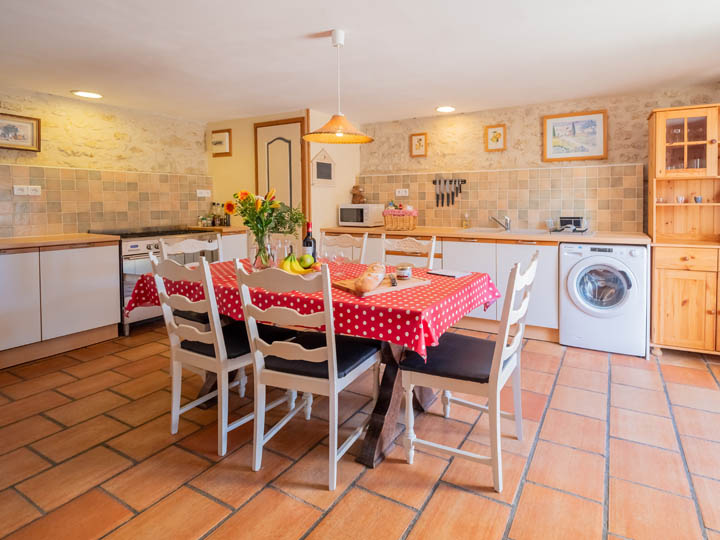 Kitchen of family friendly gite in Charente, South west France