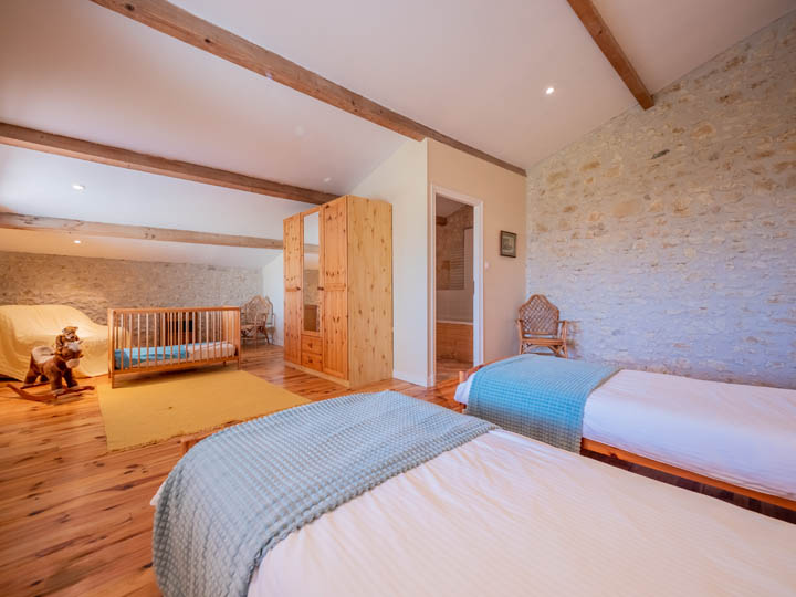 Luxury cottage the Petit Chateau child bedroom